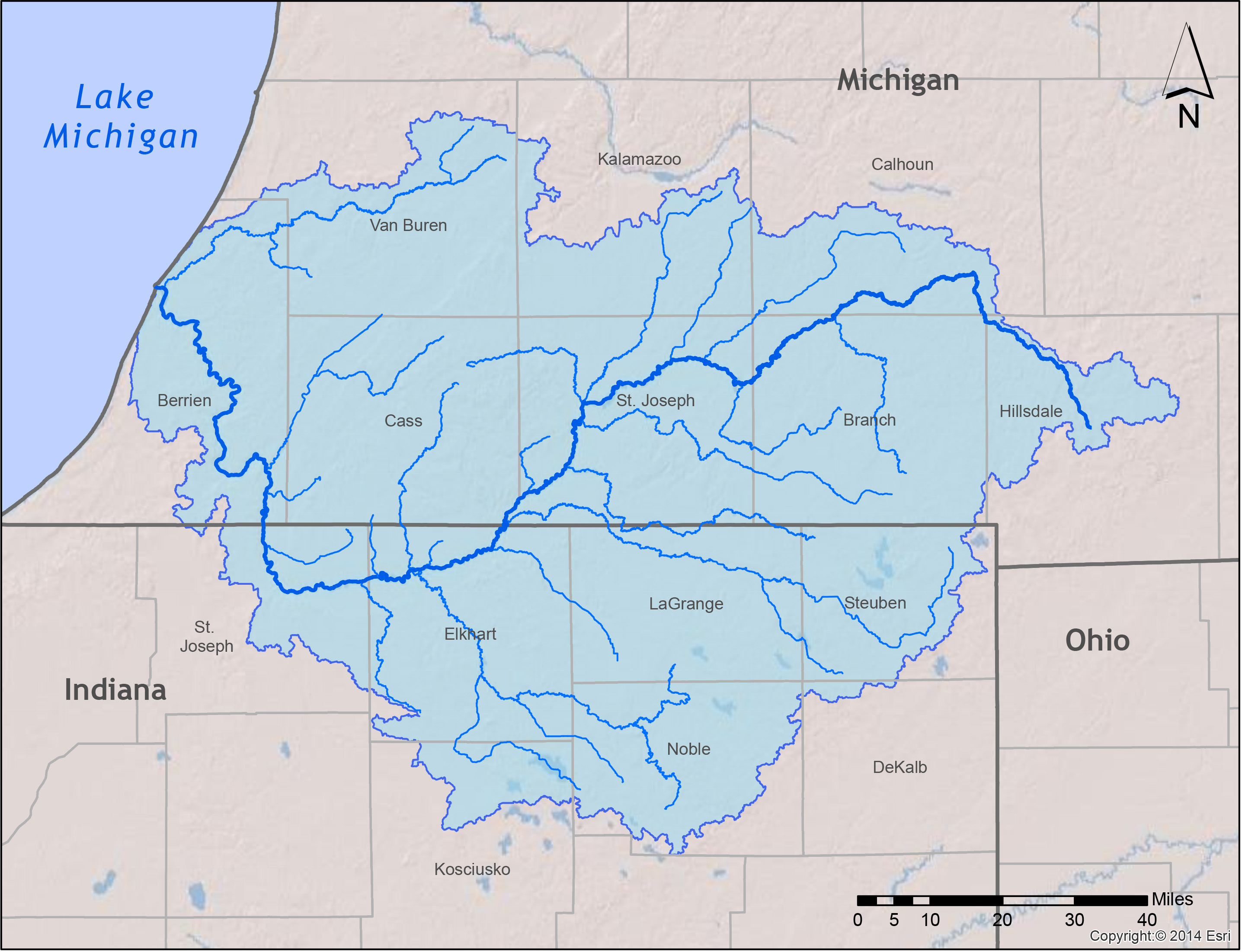 SJRBC Home - Indiana rivers map